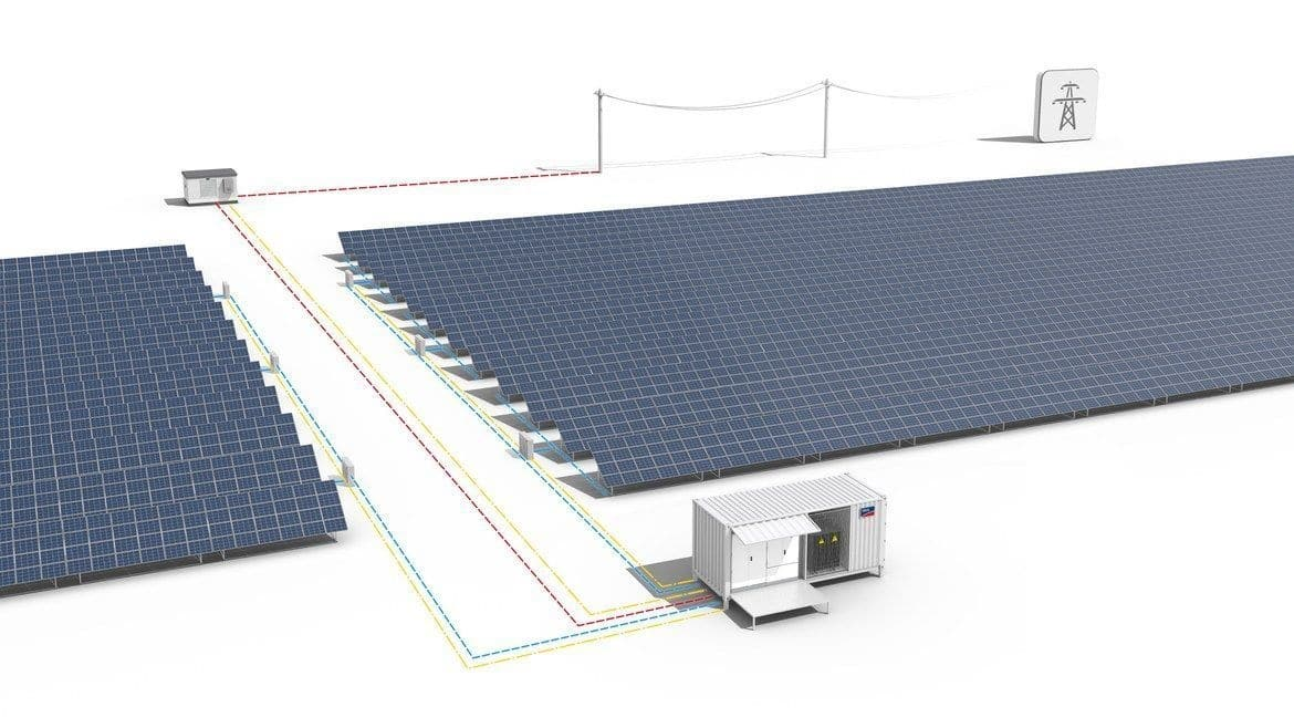Centralized utility-scale on-grid solar power plant