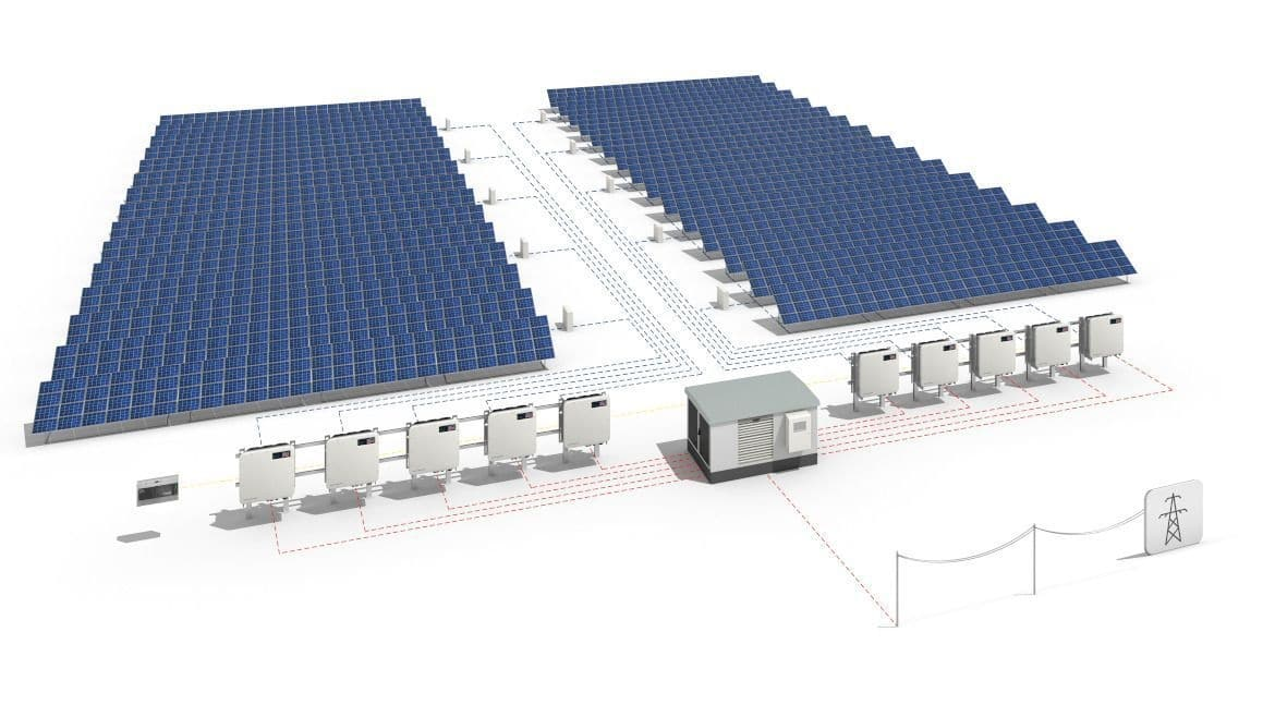 Decentralized utility-scale on-grid solar power plant