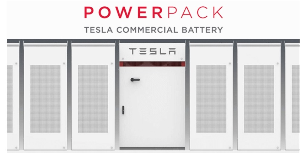 Photo 2. ESS Industrial ESP Tesla Powerpack. Source: Online edition Energy matters, WA buys Tesla Powerpack battery to store community solar energy, Oct'18.