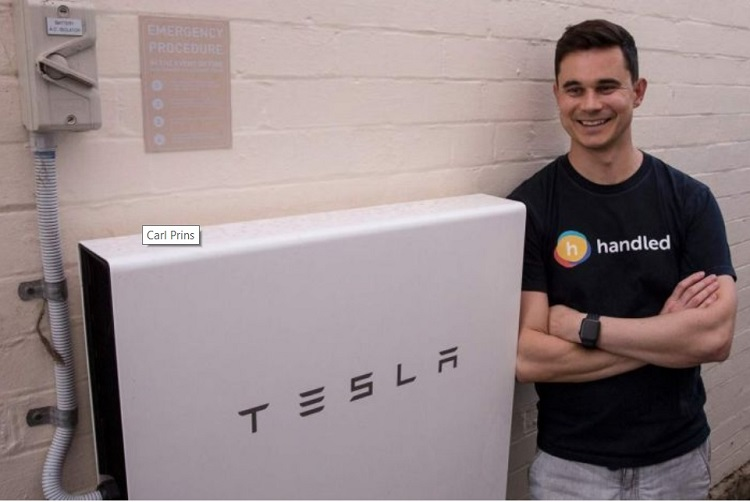 Photo 3. Carl Prince waited five months until Tesla Powerwall 2 would be installed. Source: Website https://www.abc.net.au, Meet the man who was off the grid as Sydney's eastern suburbs went dark, Feb '19.
