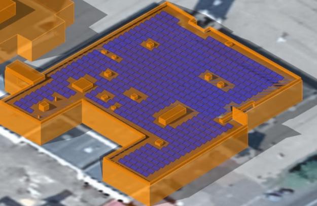 Моделювання розміщення сонячної електростанції на одній з будівель в Славутичі