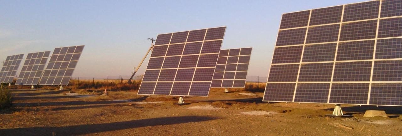 солнечная электростанция на трекерах
