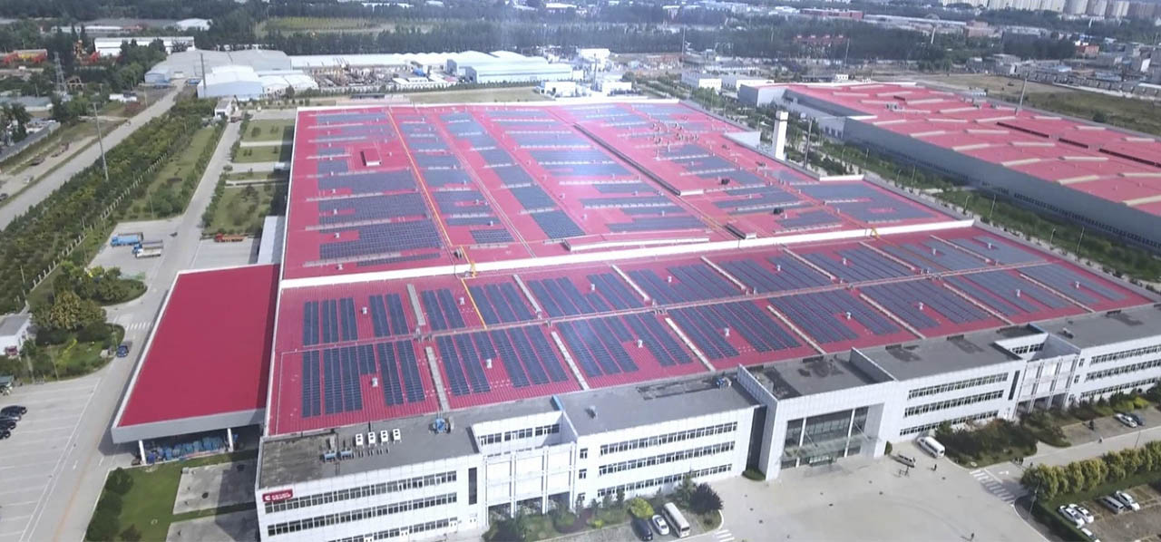 Photo 2. The solar power plant for self-consumption on the roof of the Beijing Foton Cummins Engine Company Ltd.