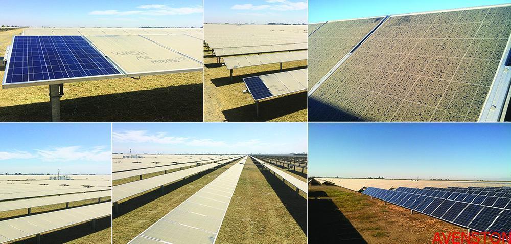 Загрязнение солнечных модулей пылью